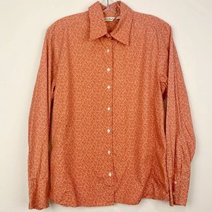 Eddie Bauer Floral Button Down Shirt, L